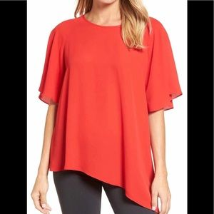 Tops - Shorte sleeve asymmetrical top